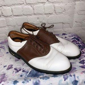 Nike Air Brown & White Golf Shoes